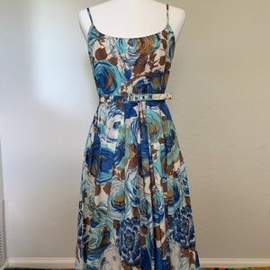Trina Turk vintage feel, floral belted dress